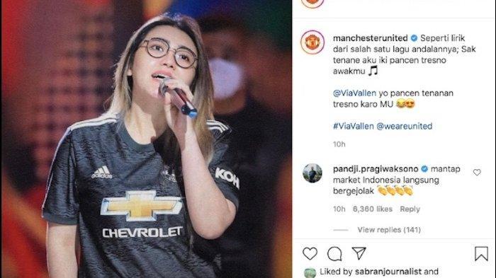 Via Vallen masuk di postingan akun resmi Manchester United.