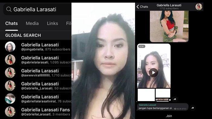 Beredar sebuah video 14 detik mirip Gabriella Larasati di grup chat Telegram, Rabu (10/2/2021).