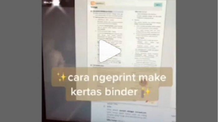 Video Cara Print Pakai Kertas Binder Viral di Medsos, Begini Tahapannya