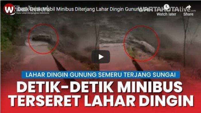 Mobil Terseret Arus Lahar Dingin Gunung Semeru ke Sungai Curah Kerobokan di Lumajang Masih Dicari