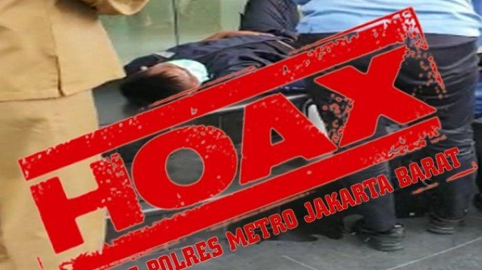 Video Anggota Sekuriti di Tanjung Duren Pingsan Gara-gara Virus Corona Hoaks, Ini Penjelasan Polisi