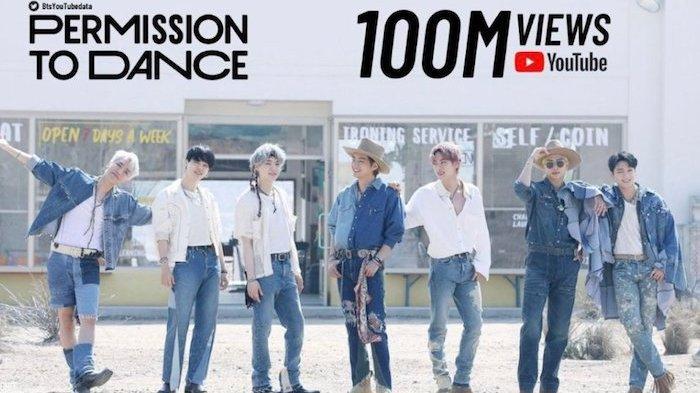 Video BTS Permission To Dance Tembus 100 Juta Viewers di Youtube Dalam 3 Hari