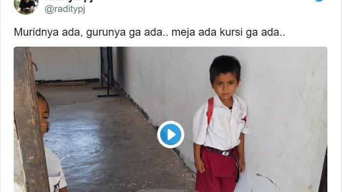 VIDEO VIRAL Sekolah di Sumba Timur, Warganet: Murid Ada Guru Gak Ada, Meja Ada Kursi Gak Ada
