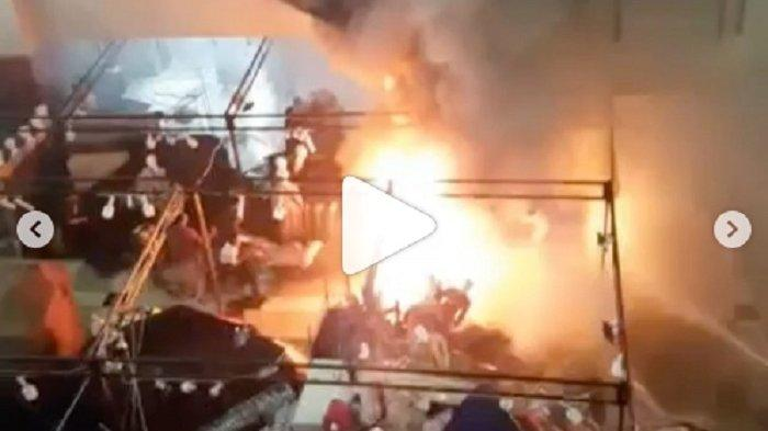VIRAL! Video Mal Thamrin City Tanah Abang Kebakaran, Pengunjung Mal Histeris saat Api Membesar