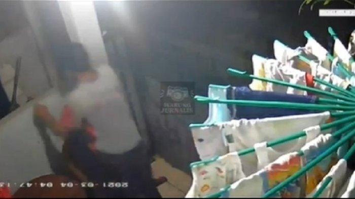 VIDEO Pemuda Curi Bra dan Celana Dalam Ibu Muda Tetangga Sendiri Terekam CCTV, Korban Maafkan Pelaku