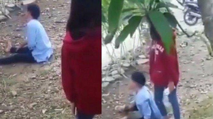 VIDEO Remaja Dorong Ibunya Sampai Tersungkur Viral, Polisi Datang Langsung Ciut: Segera Sadar Ya Dik
