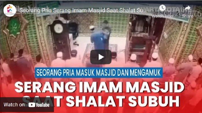 VIDEO Seorang Pria Serang Imam Masjid Saat Shalat Subuh, Sudah Ditangkap Polisi