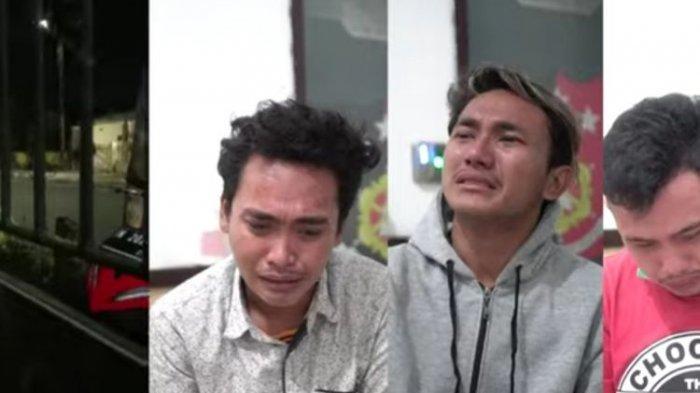 Video 3 pemuda berinisial JL, PT, dan DK, yang menangis di Mapolres Probolinggo Kota, viral