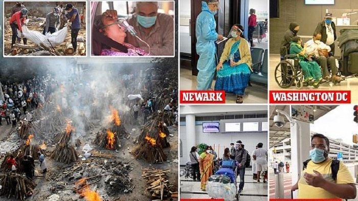 COVID-19 INDIA Makin Ngeri 30.000 Orang Tewas/Hari Kena Varian B1617, AS Stop Perjalanan dari India