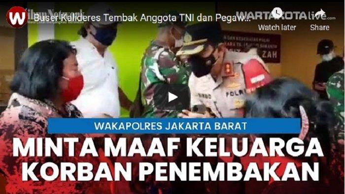 VIDEO Wakapolres Metro Jakarta Barat Minta Maaf ke Keluarga Korban yang Ditembak Oknum Polisi