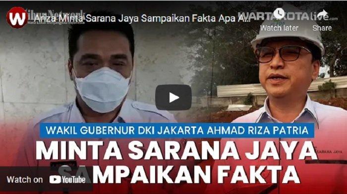 Wakil Gubernur DKI Jakarta Ahmad Riza Patria meminta kepada Perumda Sarana Jaya untuk menyampaikan fakta yang sebenarnya soal kasus dugaan korupsi kepada KPK.