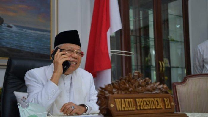 Wakil Presiden K.H. Ma'ruf Amin Sambut Kelahiran Cucu Secara Virtual