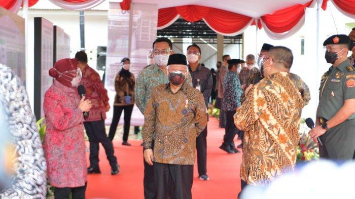 Disambut Risma, KH Maruf Amin Tinjau Lokasi Pembangunan Rusunawa Bagi Mantan PPKS di Kota Bekasi