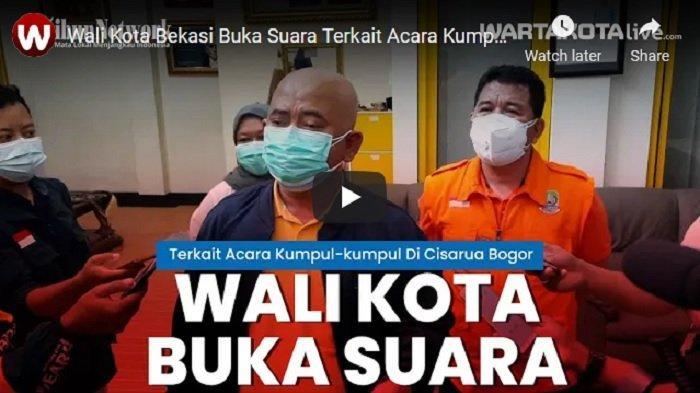 Wali Kota Bekasi Rahmat Effendi Bilang Begini Ketika Didatangi Satgas Covid-19 Kecamatan Cisarua