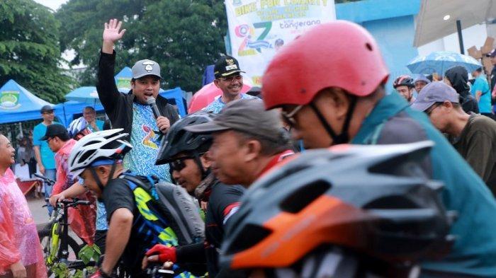 Lepas Goweser di Acara Charity Bike Ride, Wali Kota Ajak Masyarakat Meriahkan HUT Kota Tangerang