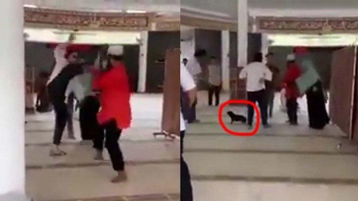 Wanita Bersepatu Injak Masjid Sambil Menenteng Anjing Dilaporkan Pernah Tes Gangguan Kejiwaan