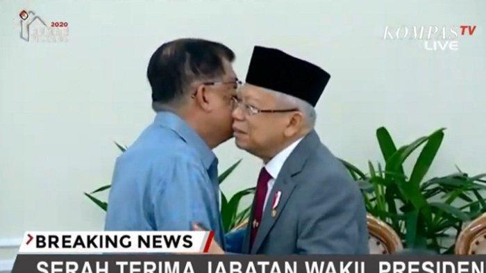 Serahkan Jabatan, JK Bocorkan Cara Kerja Jokowi Kepada Ma'ruf Amin