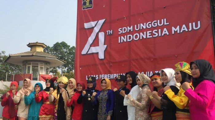 Warga Binaan Lapas Perempuan Kelas II A Tangerang Gelar Upacara Peringatan Hut Kemerdekaan RI Ke 74