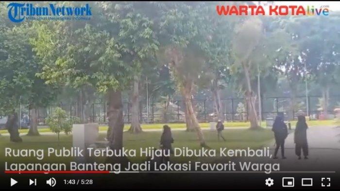 VIDEO Memasuki Masa PSBB Transisi Taman Banteng Mulai Dibuka, Warga Tampak Sudah Berkunjung