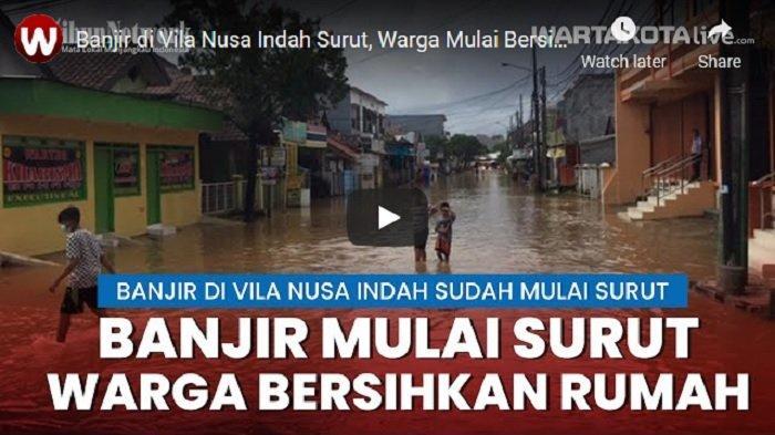 VIDEO Banjir di Vila Nusa Indah Bojongkulur Sudah Mulai Surut, Warga Mulai Bersih Rumah