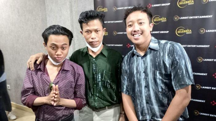 Alfin, Alfred dan Sepriadi, tiga personel Warkopi yang mirip Dono Kasino Indro, di Langit Entertaiment, kawasan Pesanggrahan, Jakarta Selatan, Rabu (22/9/2021).