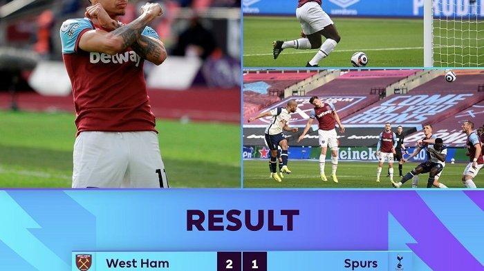 Hasil Lliga Inggris West Ham United 2-1 Tottenham Hotspur: Pasukan The Hammers Rebut Tempat Chelsea