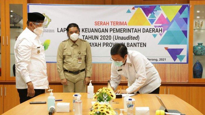 Sebagai Bentuk Tangung Jawab dalam Tata Kelola Keuangan, Gubernur Banten Serahkan LKPD ke BPK