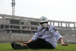 Wahidin Halim Tertegun Melihat Kemegahan Stadion Banten Bertaraf Internasional