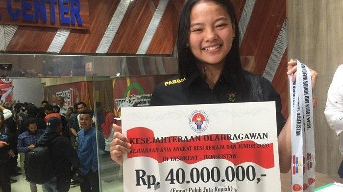 Berkat Prestasinya di Kejuaraan Asia, Lifter Remaja Windy Cantika Aisah Mendapat Bonus Rp 40 Juta
