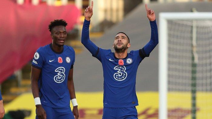 Hasil Sementara Babak Kedua Chelsea vs Manchester City 1-0, Serangan Balik, Gol Hakim Ziyech