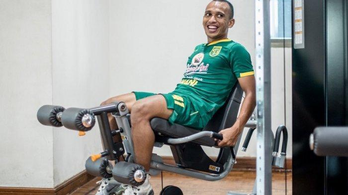 Tim Persebaya Diliburkan, Irfan Jaya dan Muhammad Hidayat Pilih Nge-Gym Setiap Hari