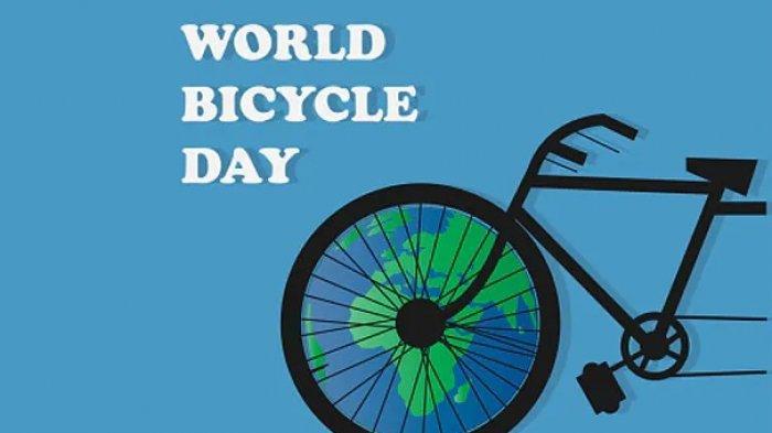 Ilustrasi Wordl Bicycle Day.