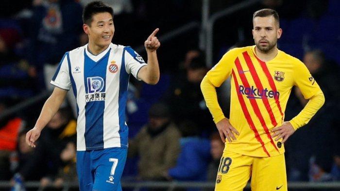 Pemain China Wu Lei Gagalkan Kemenangan Barcelona, Selisih dengan Madrid di Klasemen Tinggal 2 Gol
