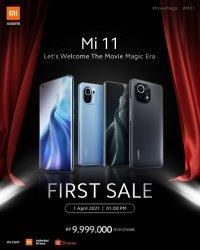 HP Xiaomi Mi 11 Resmi Dijual Hari Ini, Buruan Sebelum Habis Diserbu