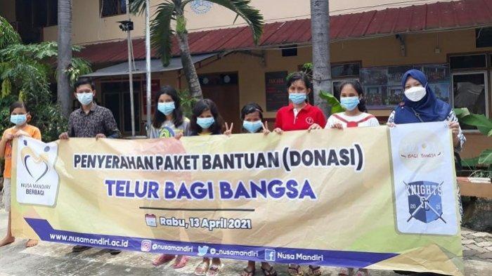 Universitas Nusa Mandiri Berbagi 2.220 Telur ke 17 Panti Asuhan di Jakarta