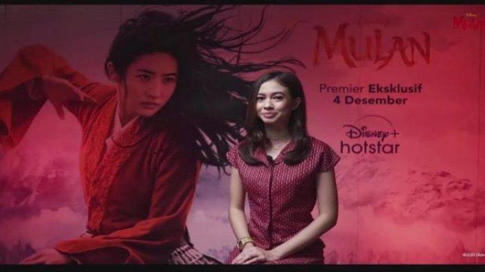 Yuki Kato saat jumpa pers virtual film live action Mulan, Kamis (19/11/2020). Film live action Mulan versi bahasa Indonesia mulai tayang di platform digital Disney + Hotstar pada 4 Desember 2020.