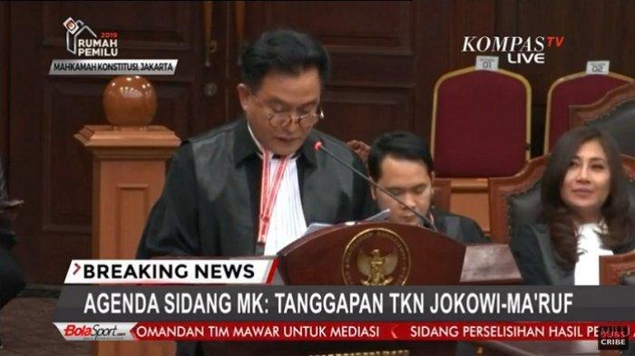 Kubu Jokowi Sebut Tim Kuasa Hukum Prabowo Lebay di Sidang Sengketa Pilpres 2019 di MK