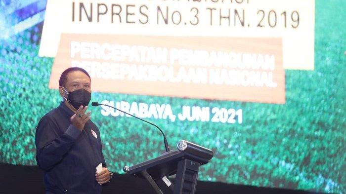 Menpora Amali Buka Sosialisasi Inpres No 3 Tahun 2019 Tentang Percepatan Sepak Bola di Surabaya