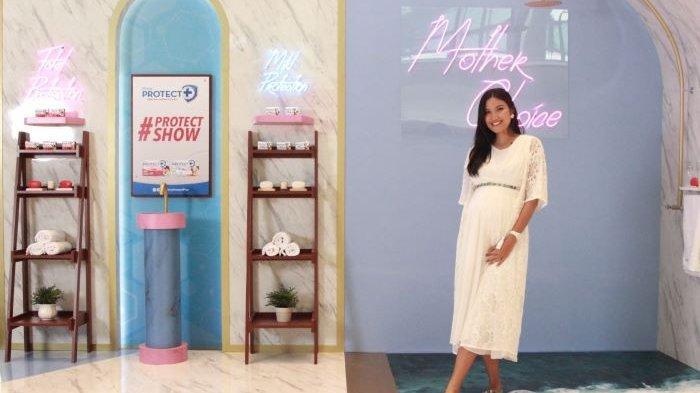 Zivanna Letisha saat berbincang virtual ketika OT Group menghadirkan beragam produk kesehatan merek Prima Protect Plus dalam bentuk masker, handsanitizer, dan handsoap, Sabtu (4/9/2021).