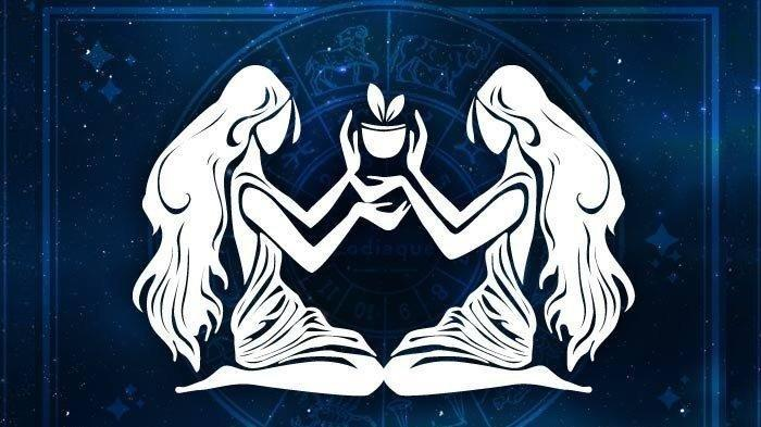 Lambang zodiak Gemini.
