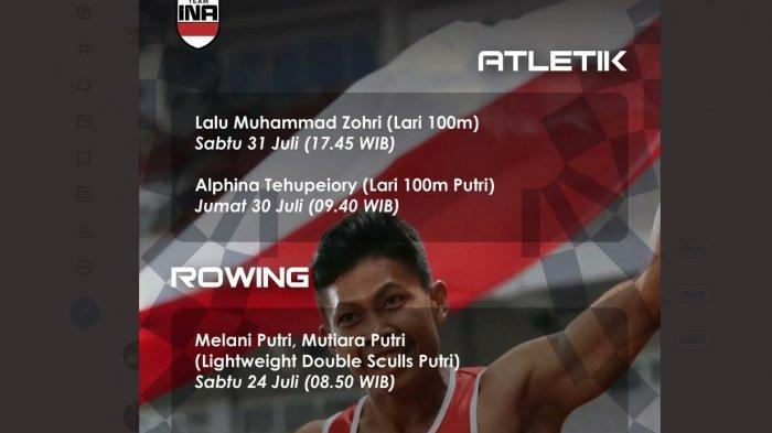 Lalu Muhammad Zohri dan Alvin Tehupeiory menjadi kontingen terakhir tim Indonesia untuk Olimpiade Tokyo yang berangkat Sabtu (24/7/2021) malam. Zohri diprediksi dapat medali sementara Alvin ingin perbaiki rekor kecepatan di cabang lari 100 meter.
