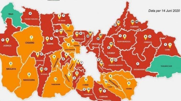 Daftar Lengkap Zona Merah di Kabupaten Bogor, Tambah Lagi Jadi 24 Kecamatan, Terbaru Parungpanjang