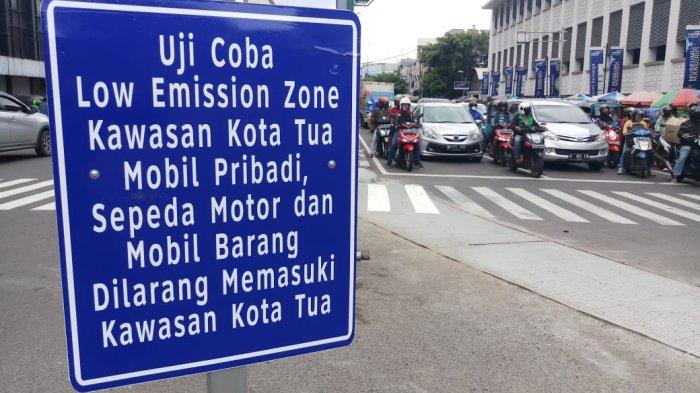 VIDEO Suasana Uji Coba Kawasan Kota Tua Jadi Zona Rendah Emisi