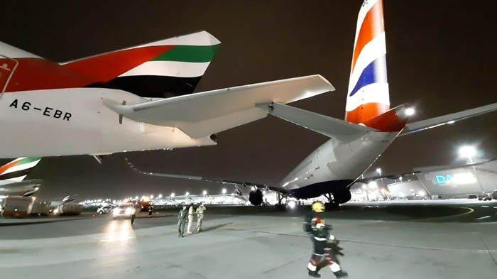 Tabrakan Pesawat di Bandara Dubai Akibat Alpa Jaga Jarak