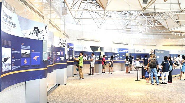 Singapore Airlines memiliki museum yang menceritakan perjalanan perusahaan mereka.