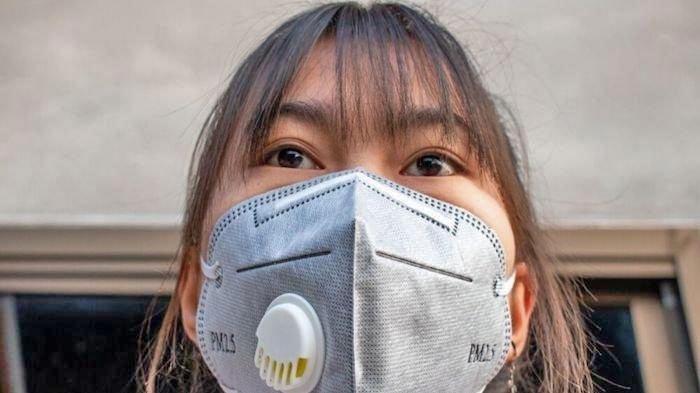 Masker dengan katup udara ini diperuntukan untuk kegiatan industrial.