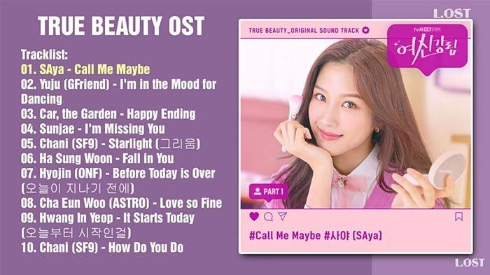 K-POP:  Soundtrack Drama True Beauty Laris Manis di Asia