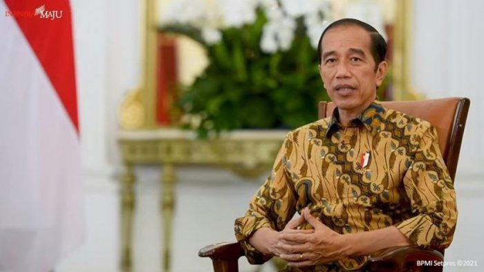 Presiden RI Joko Widodo (Jokowi) buka suara soal status ke-75 pegawai KPK yang dinonaktifkan karena gagal lolos TWK, Senin (17/5/2021).