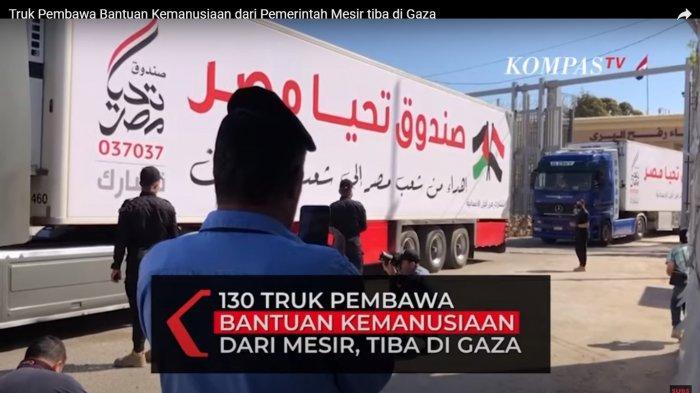 Israel dan Hamas Gencatan Senjata, 130 Truk Bantuan Pemerintah Mesir Bisa Tiba di Gaza Palestina