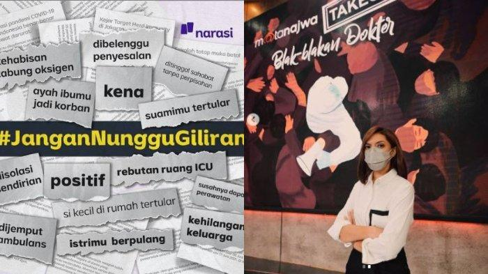 1 Hari seusai Bahas Gawatnya Covid di Indonesia, Najwa Shihab Suarakan Tagar JanganNungguGiliran